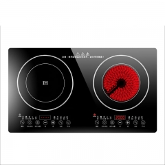 Ideamay Double Burners 1950W+2000W Induction and Infrared Cooker