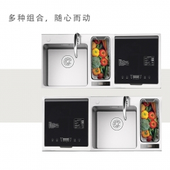 Ideamay Wholesale 2000W Stainless Steel Automatic Embedded Sink Dishwasher Machine for Home
